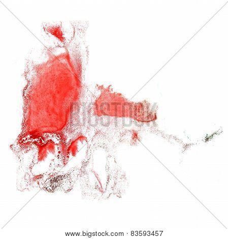 Blot divorce red, black illustration artist of handwork is isola
