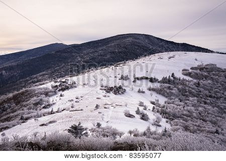 Appalachian Mountains In The Winter 2