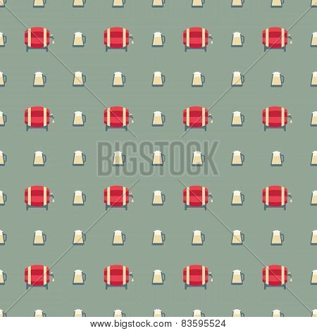 beer barrels and glass pattern