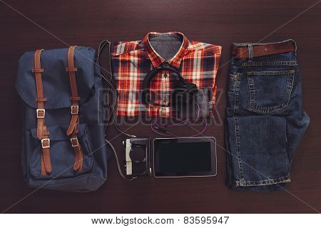 Set Of Male Casual Clothing