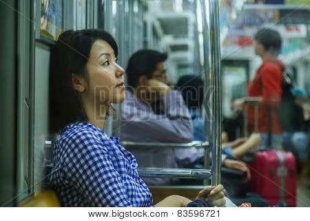 Japanese Subway Commuter