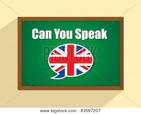 English language on blackboard