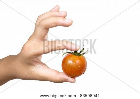 Tomato pinching with fingers