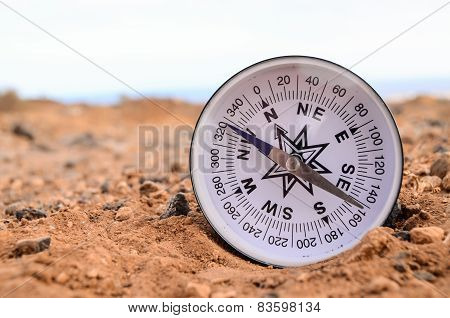 Orientation Concept Metal Compass