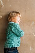 picture of pullovers  - Portrait of a cute toddler boy - JPG