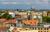 picture of copenhagen  - View of Rosenborg Castle from The Round Tower in Copenhagen - JPG