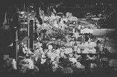 foto of graveyard  - The graveyard in moody black and white  - JPG