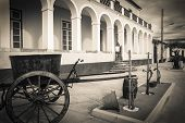 pic of chariot  - ancient chariot in Pombalinho village, Golega - Portugal