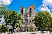 image of notre dame  - Notre Dame de Paris is the one of the most famous symbols of Paris - JPG