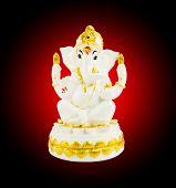 stock photo of vedic  - Hindu God Ganesha over a white background - JPG