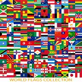 image of north sudan  - Flags of the world and  map on white background - JPG
