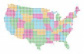 stock photo of usa map  - USA Map on white background - JPG