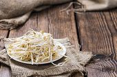 foto of soybean sprouts  - Mungbean Sprouts  - JPG