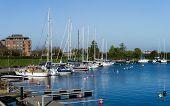 foto of copenhagen  - Small harbour at the end of Langelinie in Copenhagen Denmark - JPG