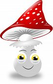 pic of toadstools  - Illustration of cute toadstool with face on white - JPG