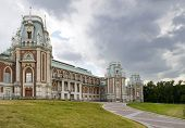 stock photo of pilaster  - ancient palace in Tsaritsino park in Moscow - JPG