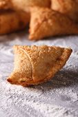 picture of samosa  - Indian samosa pastry close - JPG