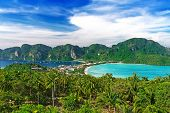 foto of phi phi  - Travel vacation background - Phi-Phi island Krabi Province Thailand Asia