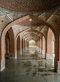 image of arch  - Arches in the Blue Mosque in Tabriz - JPG