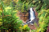 image of minerals  - Miners Falls in autumn - JPG