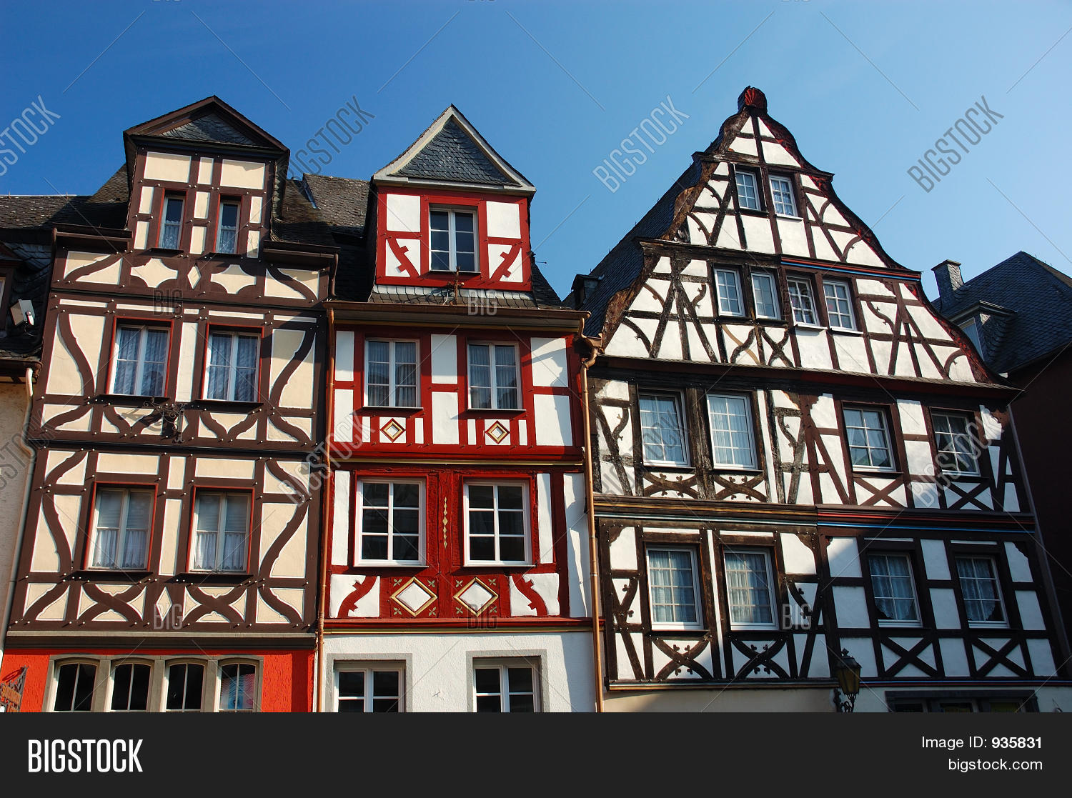 Typical german half timbered houses stock photo stock for Half timbered house plans