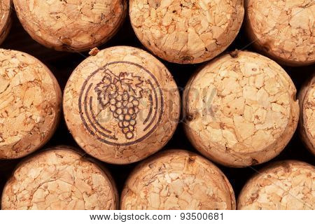 Champagne wine corks texture background