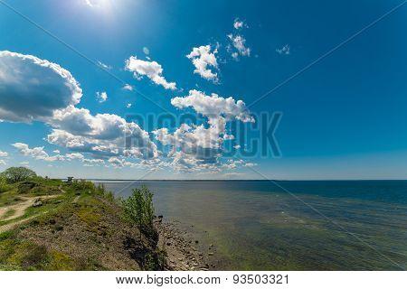 The cliffs of Paldiski, Estonia. The Baltic sea