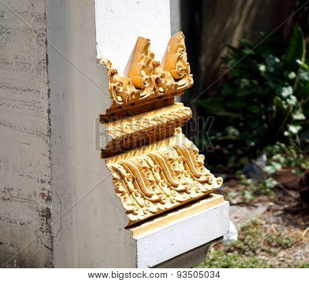 Temple Door Trim  In Thailand