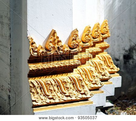 Thailand Temple Door Trim