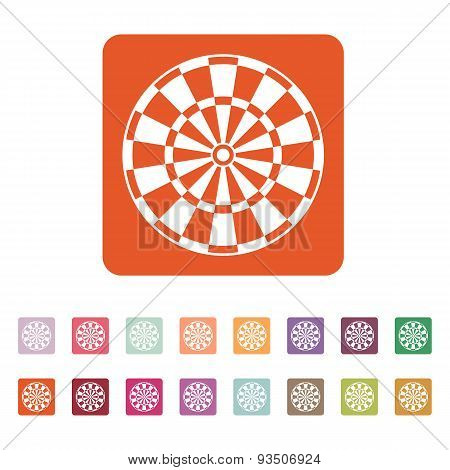 The Darts Icon. Target And Game Symbol. Flat