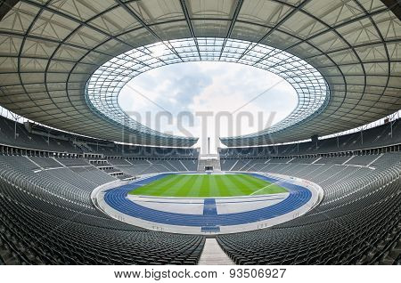 View Of An Empty Berlin's Stadium, Berlin.