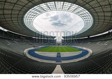 View Of An Empty Berlin's Olympia Stadium, Berlin.