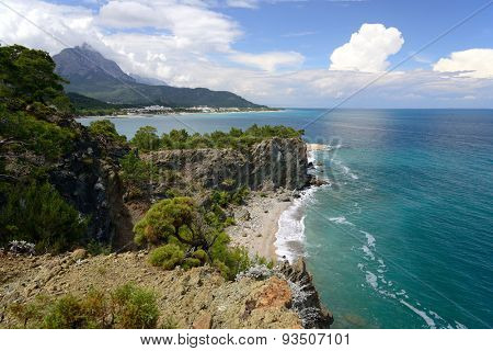 mountains and sea around Kemer, Turkey