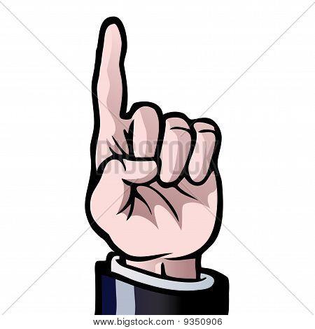 竖起一根手指 库存矢量图和库存照片