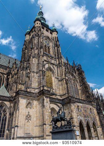 Gothic Metropolitan Cathedral of Saints Vitus, Wenceslaus and Adalbert, Prague Castle, Czech Republic