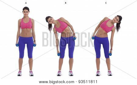 Side Bend With Dumbbells