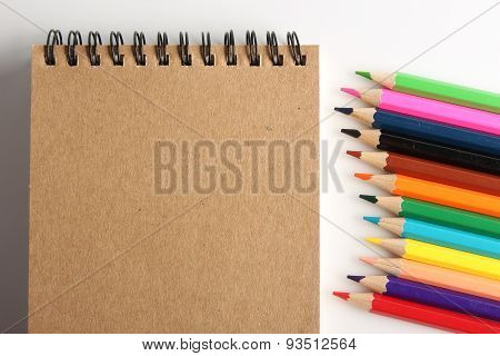Blank Note With Pencils
