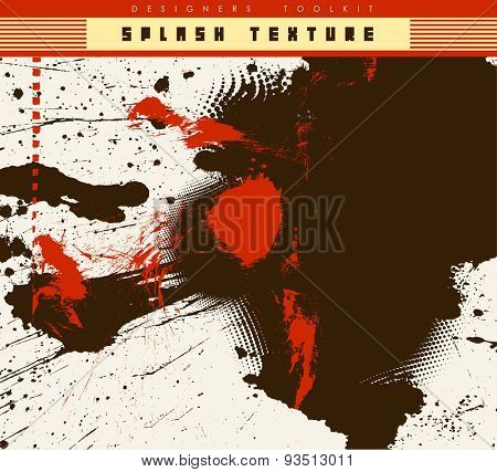 grunge textures set. background. vector illustration.