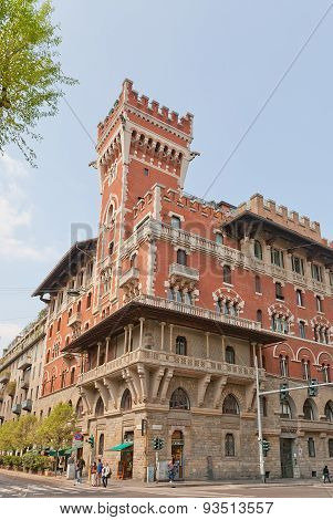 Building Of Cova Castle (1910). Milan, Italy