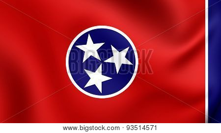 Flag Of The Tennessee, Usa.