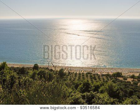 Kathisma beach in Lefkada Greece.