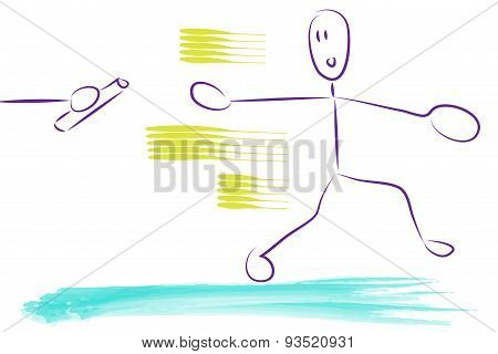 Relay Race Illustration