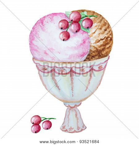Watercolor  Ice Cream