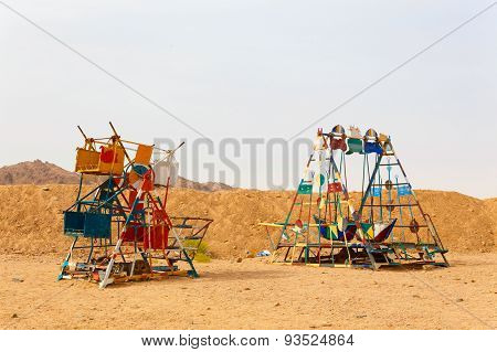 Playground for children in the Bedouin village