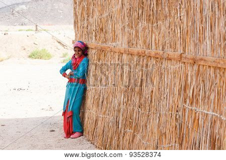 Unidentified Bedouin Girl In The Village