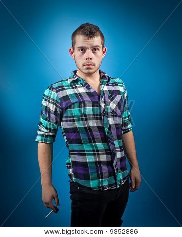 Man In Blue Flannel