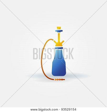Hookah bright icon or logo