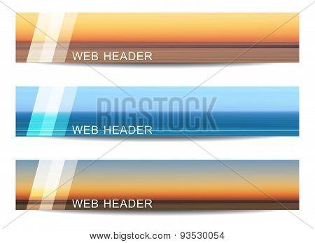 Set of web header or banner
