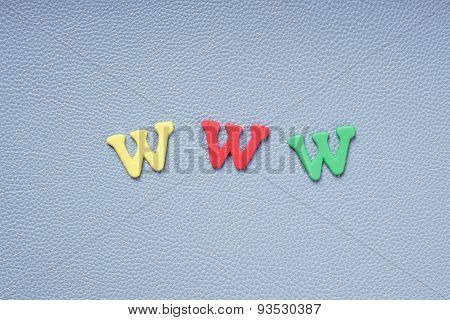 www in colorful letters