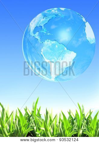 Summer grass and Earth. Elements of this image furnished by NASA